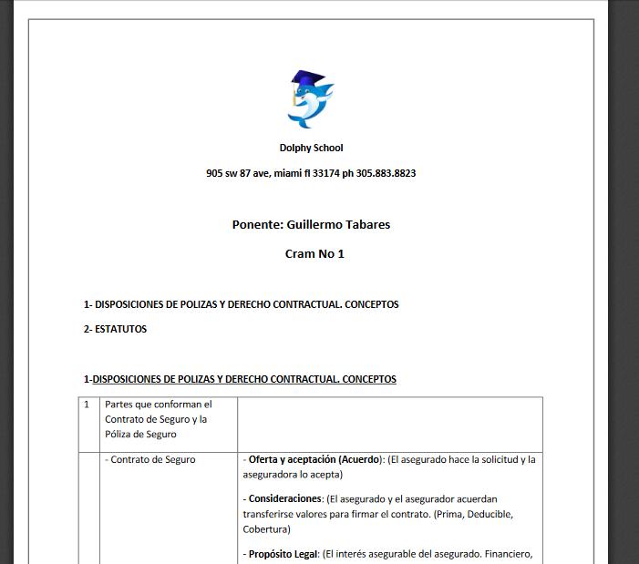 En PDF repasos para licencias de seguros