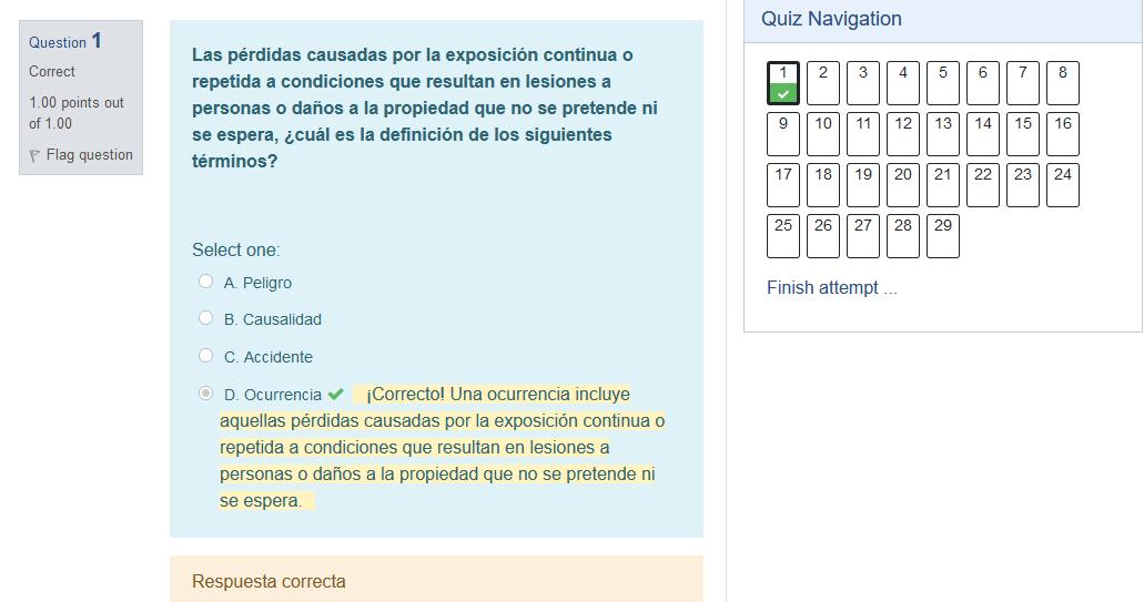 Simula tu Examen simulador en español, con preguntas detalladas